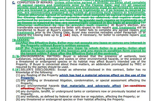 Unimproved Property Contract Trec 9 11 Bull Forms Texas
